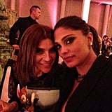 Carine Roitfeld and Rachel Roy met up during the event. Source: Instagram user rachel_roy