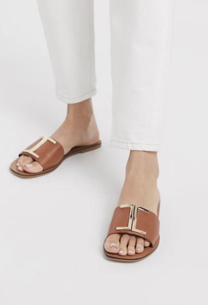 ASOS Factor Leather Flat Sandals