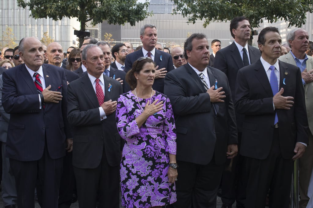 Former New York Mayor Rudy Giuliani joined Mayor Michael Bloomberg, New Jersey Governor Chris Christie, his wife, Mary Pat Christie, and New York State Governor Andrew Cuomo at the 9/11 Memorial ceremonies in NYC.