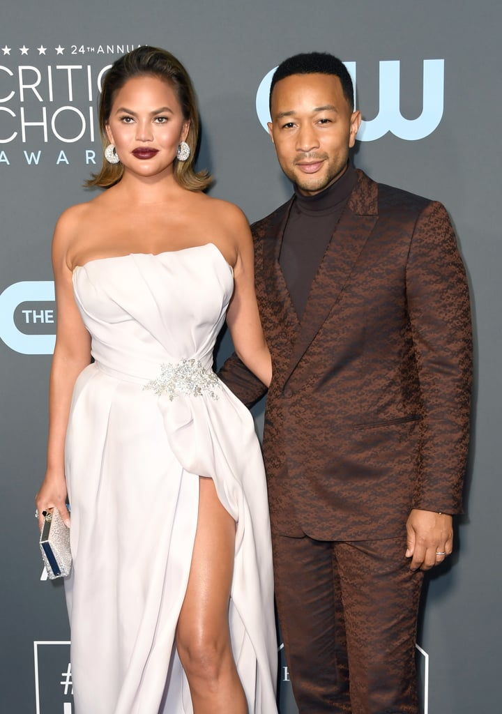 Chrissy and John at the 2019 Critics' Choice Awards
