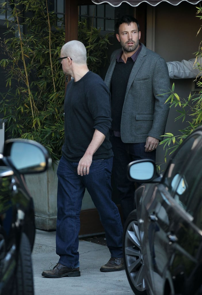 Matt Damon and Ben Affleck stepped out after a meeting in LA.