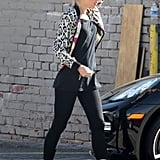 Gwen Stefani sported boots as she walked outside of a recording studio in Hollywood.