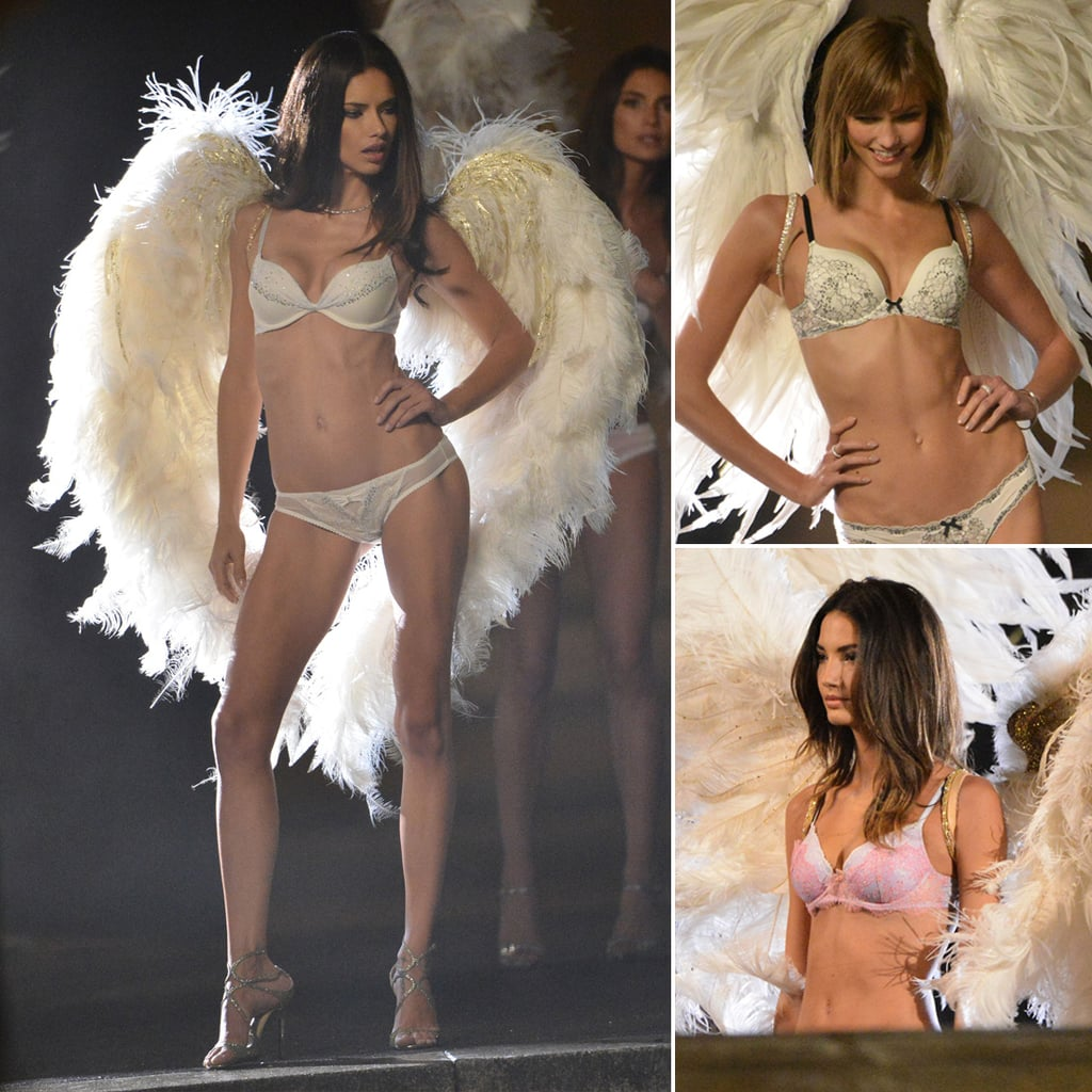 Work It: Victoria's Secret Models Brave the Cold in Tiny Lingerie