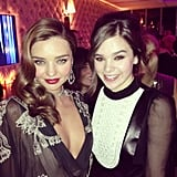 Hailee Steinfeld met up with Miranda Kerr at the Vanity Fair party. Source: Instagram user haileesteinfeld