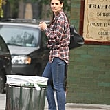 Katie Holmes stepped out solo in NYC.