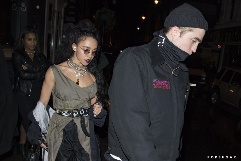 Robert Pattinson and FKA Twigs have been keeping a low profile as of late, but on Sunday, the couple was spotted grabbing dinner in London. Robert, who is costarring in the upcoming Lost City of Z film alongside Charlie Hunnam, kept things casual in a beanie and Nike sneakers, while Twigs looked like her usual effortlessly cool self.  Rob and Twigs have been dating since August 2014, but his relationship with ex-girlfriend Kristen Stewart still managed to make headlines over the weekend. Kristen hosted Saturday Night Live for the first time ever this week, and during her opening monologue, the Personal Shopper actress took a walk down memory lane and brought up the tweets Donald Trump sent out about her and Robert in 2012. The tweets in question encouraged Rob to leave her after she was caught cheating on him with her married Snow White and the Huntsman director, Rupert Sanders. Rob has yet to comment on the situation, but perhaps he's just too busy planning his wedding to Twigs.      Related:                                                                The Few Times Robert Pattinson and FKA Twigs Have Talked About Each Other Will Make You Swoon                                                                   Who Has Robert Pattinson Dated? He's Been Linked to a Lot of Leading Ladies