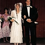 Notice the lace detailing on the bottom of the bridesmaids' dresses, seen here in 1987. Source: Flickr user Dave Parker