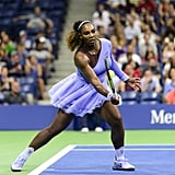 Check Out Serena's Lavender Off-White Look