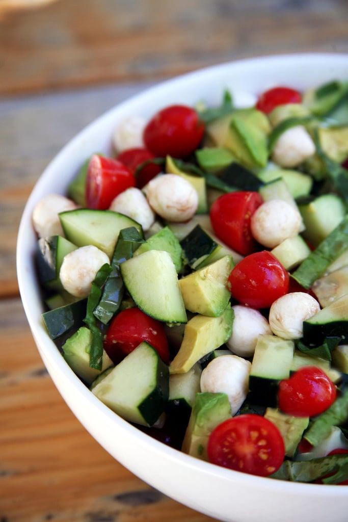 Cucumber-Avocado Caprese Salad