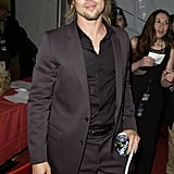 Brad showed off his perfectly coiffed locks at the Emmys in September 2002.