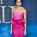 b3237c1a6a507 ... Zoë Kravitz Pink Gown at Fantastic Beasts 2 London Premiere ...