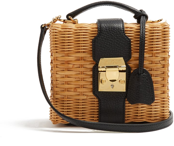 You never thought a wicker basket could look this covetable, but Mark Cross's rattan and leather cross-body bag ($2,407) is the ultimate take on the trend.