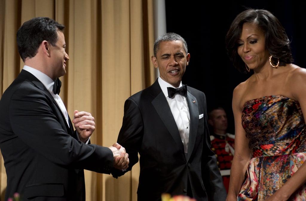 Jimmy Kimmel and President Obama shook hands at the White House Correspondant's Dinner.