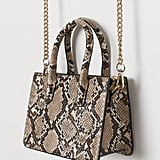 H&M Snakeskin Patterned Mini Handbag