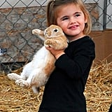 Anja Mazur posed with a bunny in LA.