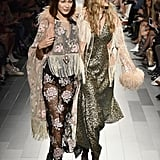 Gigi and Bella Hadid Anna Sui NYFW 2017