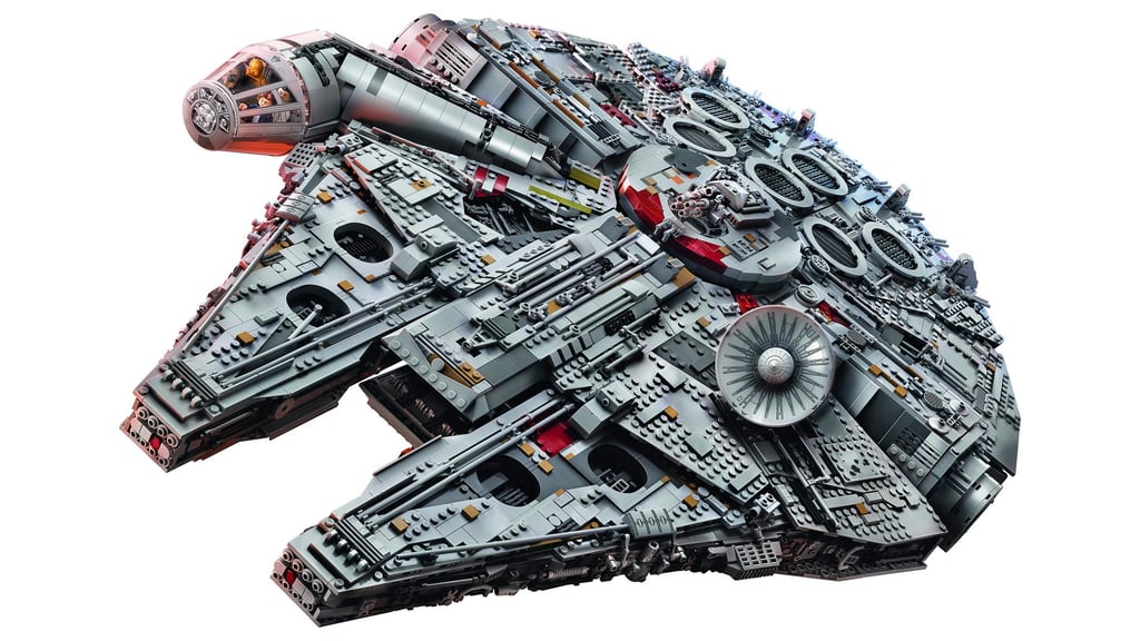 Star wars millennium falcon lego set is largest ever popsugar australia parenting - Lego brick caravan a record built piece by piece ...