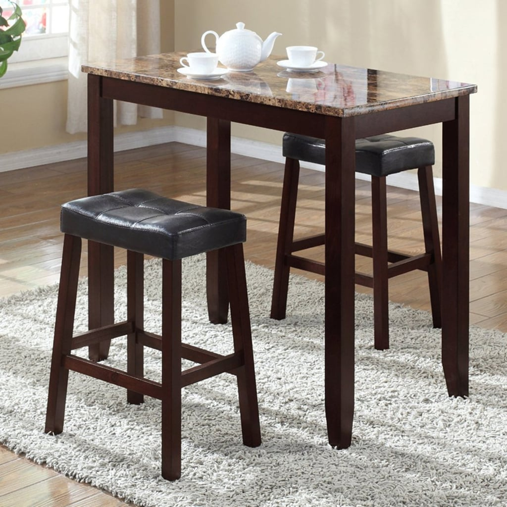 Roundhill Furniture Counter Breakfast Table Furniture Under 200