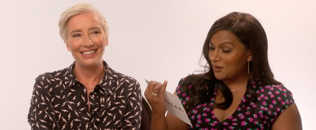 Mindy Kaling and Emma Thompson Late Night Video Interview