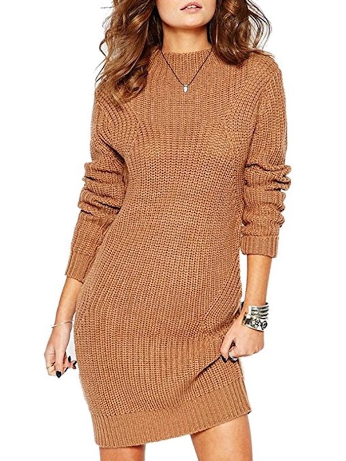 Clothink Cable-Knit Sweater Dress | Amazon Dresses | POPSUGAR ...