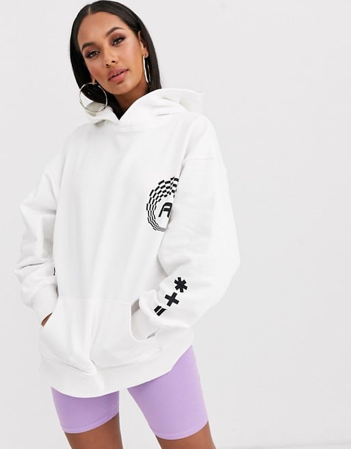 ASOS Design Oversized Hoodie With Sporty Logos