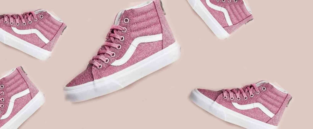 Pink Glitter Vans Sneakers For Kids