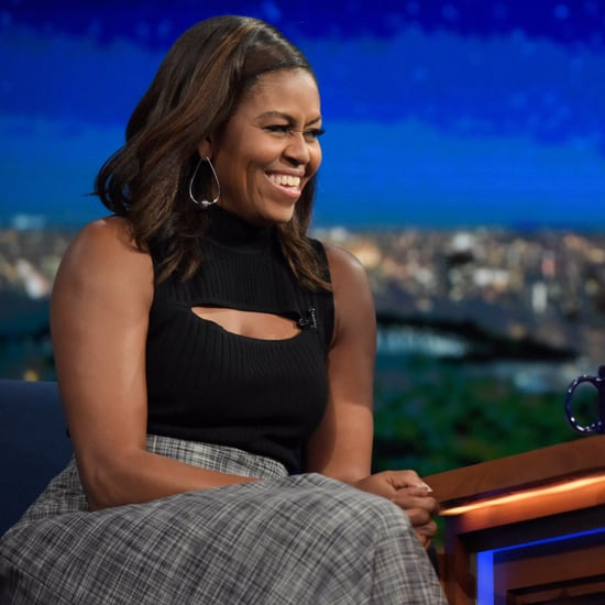 Michelle Obama's Cutout Top on Stephen Colbert 2016