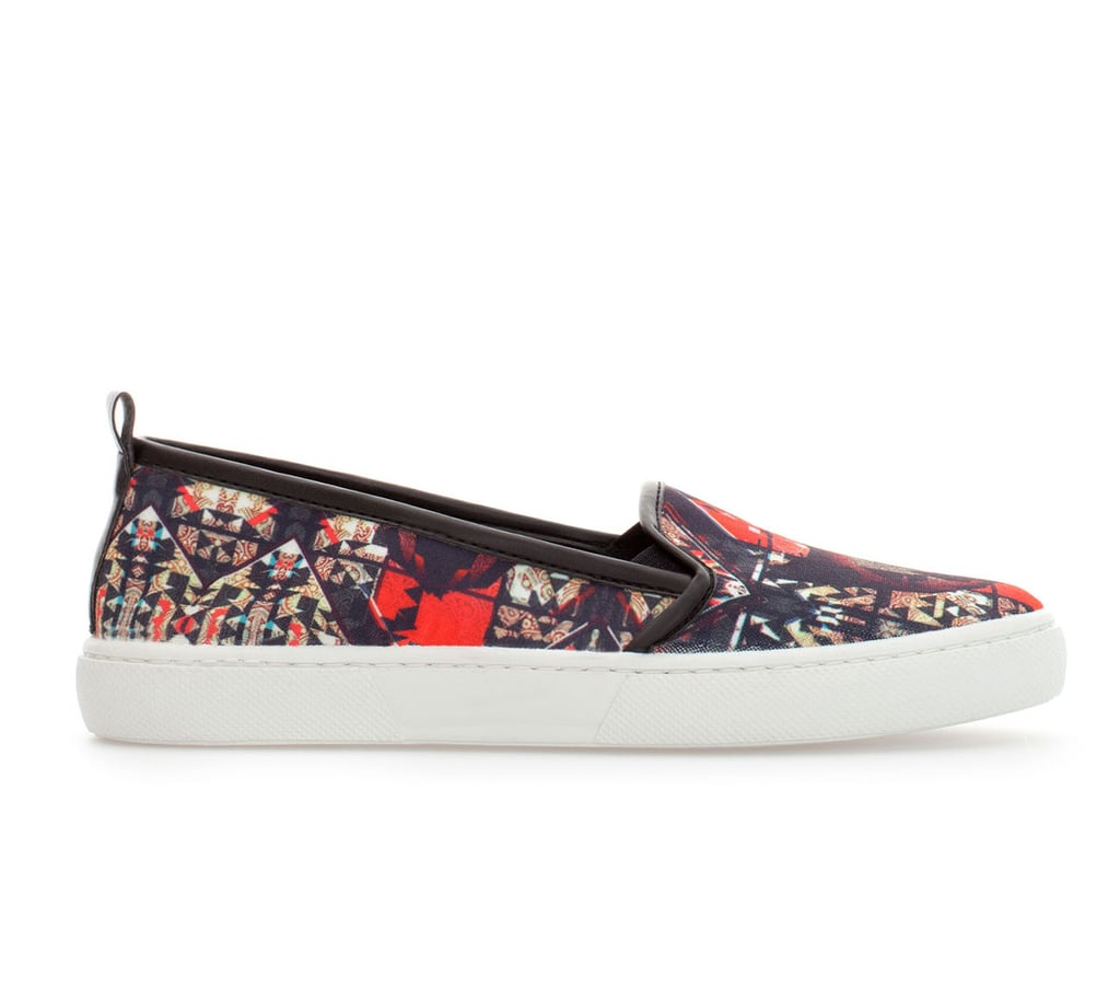 Wanting to experiment with adding a sneaker to your day-to-day repertoire without investing too much? Zara's printed pair ($50) is your perfect starter shoe.
