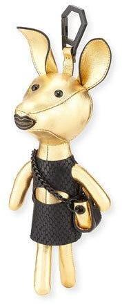 KENDALL + KYLIE Sophie Dog Charm for Handbag, Gold/Black