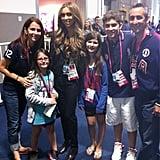 Giuliana Rancic ran into Aly Raisman's family inside Olympic Park. Source: Twitter user GiulianaRancic