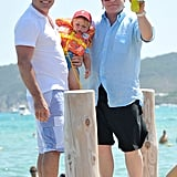 Elton John vacationed with David Furnish and their son Zachary Furnish-John.