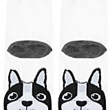 Forever 21 FOREVER 21+ Mesh Dog Graphic Crew Socks