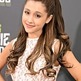 Ariana Grande With a Half-Up Hairstyle in 2013