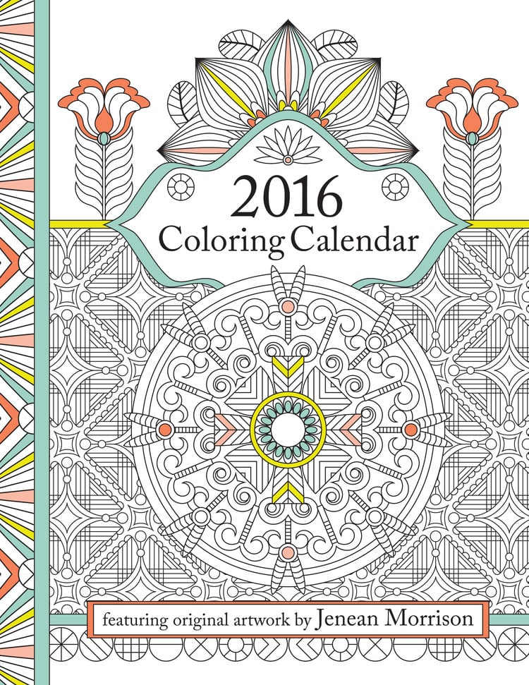 2016 Coloring Calendar | Adult Coloring Books | POPSUGAR Smart ...