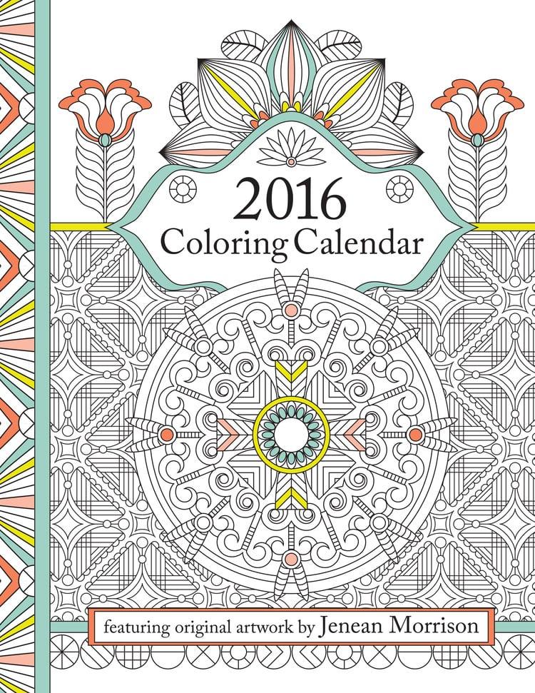 2016 Coloring Calendar