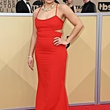 Daniella looked radiant in red at the 24th Annual Screen Actors Guild Awards this year.