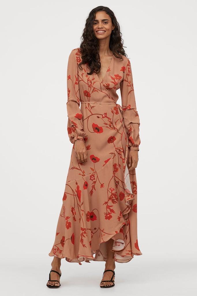 H&M Crêped Wrap-front Dress