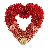 "20"" Ombre Wood Curl Heart Wreath"
