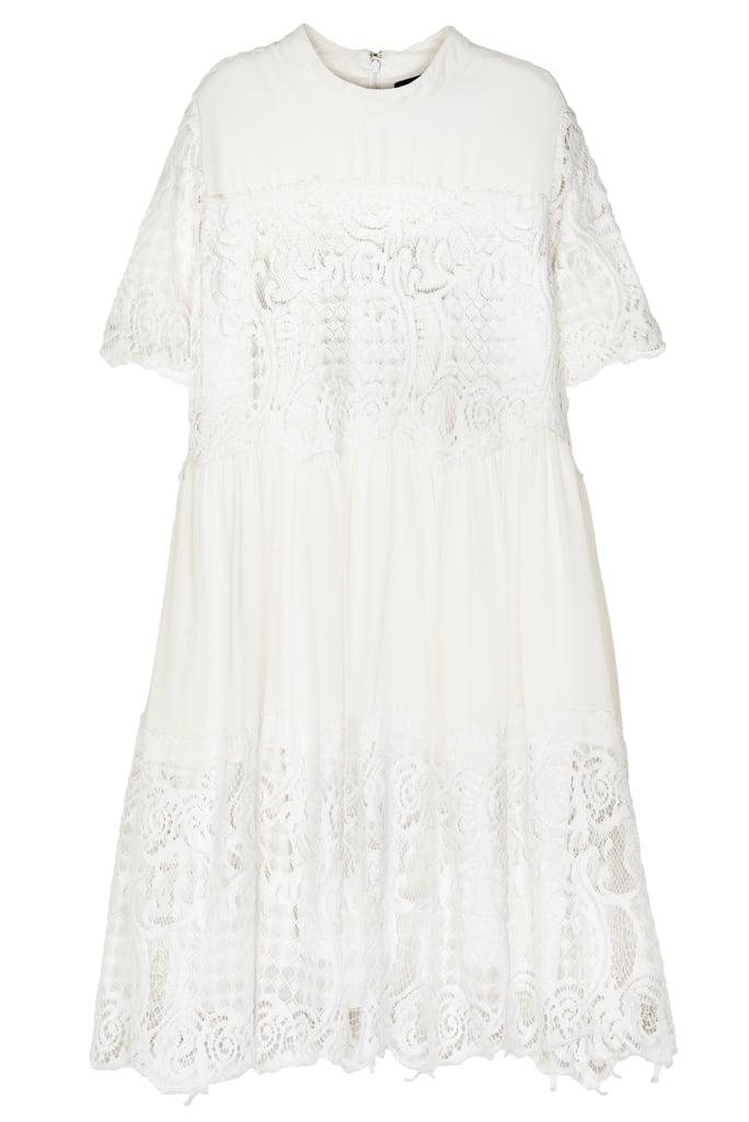 Short-Sleeve Lace Babydoll Dress ($178)