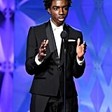 Caleb McLaughlin at the 2020 Critics' Choice Awards
