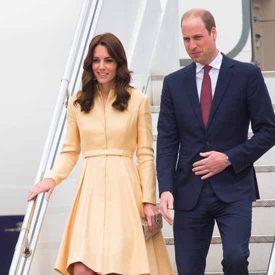 Royal Family Travels With Black Outfit