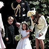 Photos of Prince William With His Kids at the Royal Wedding