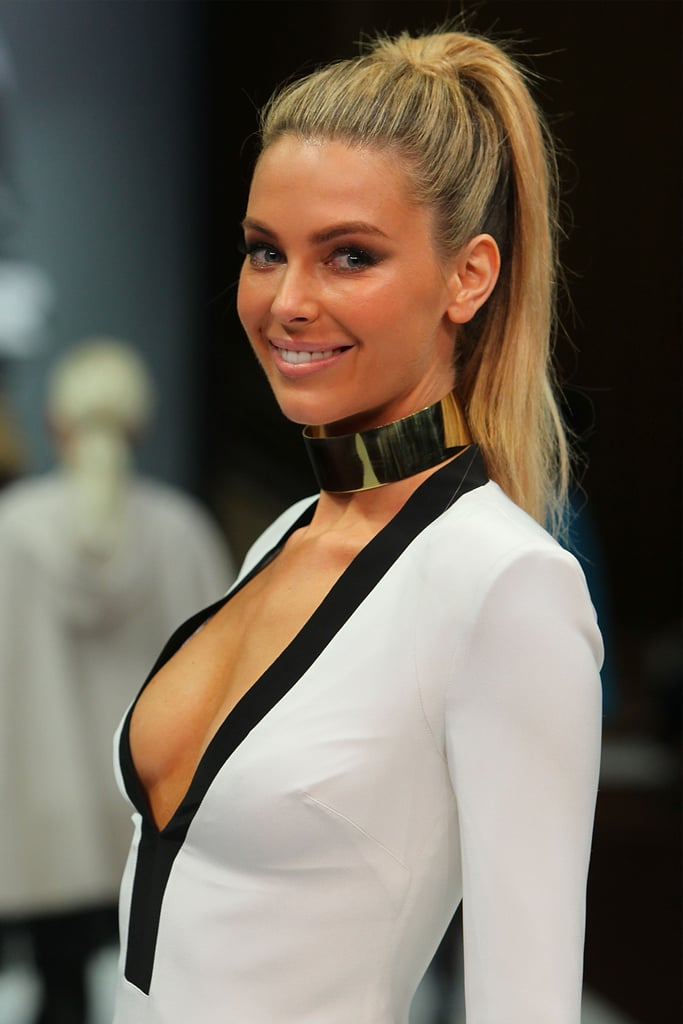 A high pony to walk the catwalk for Myer in February '13.