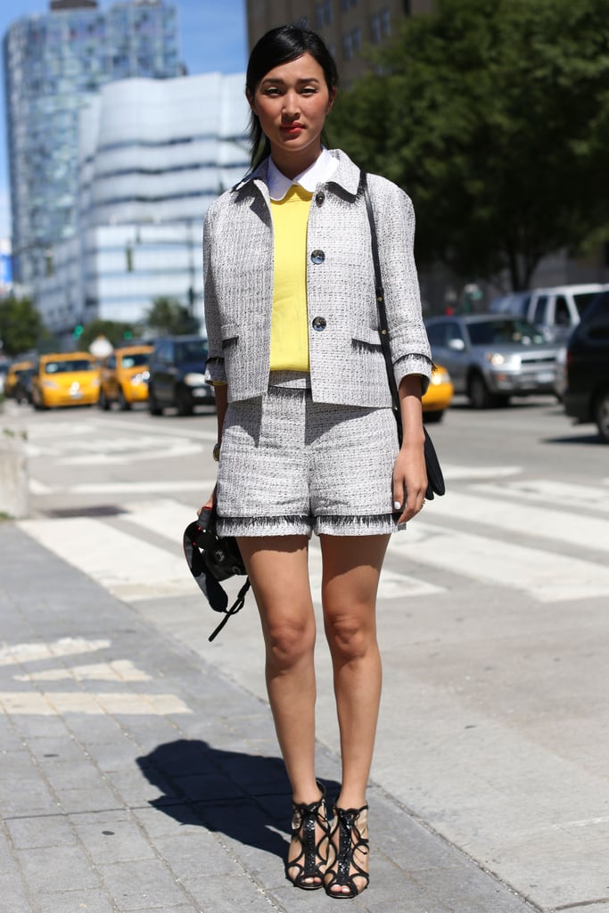 A sweet shorts suit fits the transitional-weather bill.
