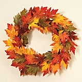 One Holiday Lane 24 Inch Gold Glitter Maple Leaf Wreath