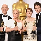 J.K. Simmons, Patricia Arquette, Julianne Moore, and Eddie Redmayne, 2015
