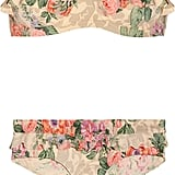 """""""This floral bikini reminds me of French vintage fabrics, and the shape is extremely flattering and almost quite '60s, plus no strap marks. Nifty . . ."""" — Poppy Delevingne  Zimmermann Ruffled Bikini ($225)"""