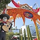 Bright and vivid colors welcome you into Plaza de la Familia at Disney California Adventure.