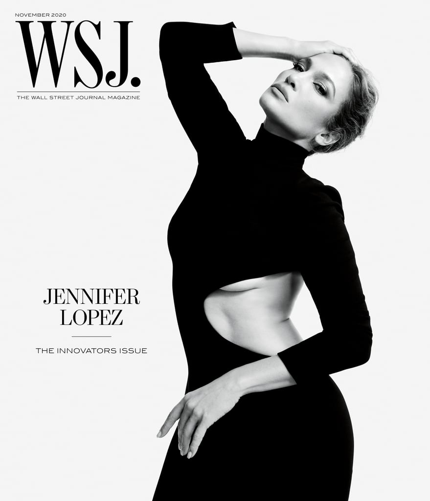 J Lo's Cutout Black Dress on the Cover of WSJ. Magazine