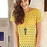 How great is this sunny yellow tee? Wear it with a body-conscious skirt or over your bathing suit top during a beach day.  Paper Crane Amel Perforated Tee ($30)